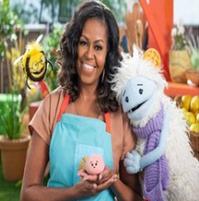Michelle Obama pour la série Waffle and Mochi